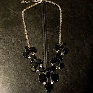 Black and Gold jewel necklace